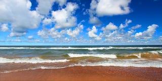 Lake Superior Beach Panoramic Stock Images