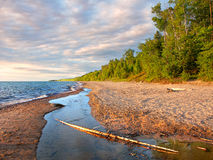 Lake Superior Beach Summer Evening Stock Image