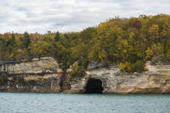 Lake Superior Cave Stock Photo