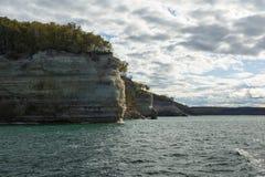 Lake Superior Cliff Scenic Stock Photo