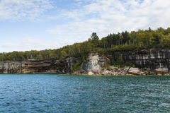 Lake Superior Cliff Scenic Stock Photo
