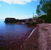 Lake Superior den norr kusten - Minnesota Arkivbilder