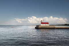 Lake Superior fyr Royaltyfria Foton