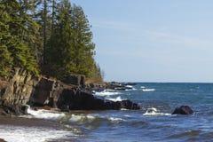 Lake Superior Grand Marais. A lake superior scenic by Grand Marais Minnesota Stock Images