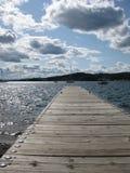 Lake Superior in Grand Marais, Minnesota. Grand Marais Harbor on Lake Superior in Minnesota Stock Photo