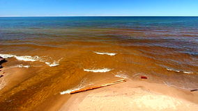Lake Superior Great Lakes. The Union River is one of many that flow into Lake Superior in northwoods Michigan stock video