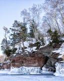 Lake Superior Ice Caves Stock Image