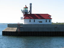 Lake Superior Light House. Duluth Minnesota Stock Photo