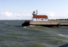 Light house on Lake Superior Stock Photo
