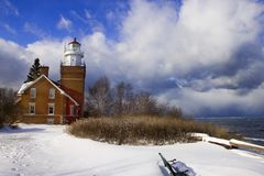 Lake superior lighthouse Royalty Free Stock Images