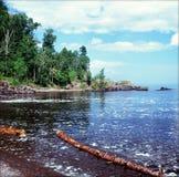 Lake Superior norr kust - Minnesota Arkivfoto