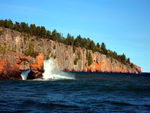 Lake Superior north shore. Sunny day Royalty Free Stock Images