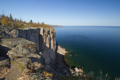 Lake Superior Palisades. A cliff on Lake Superior in Minnesota during autumn Royalty Free Stock Photos