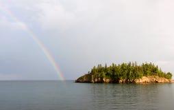 Lake Superior Rainbow Stock Images