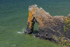 Lake Superior Rock Arch. A stone arch formation on Lake Superior Royalty Free Stock Images