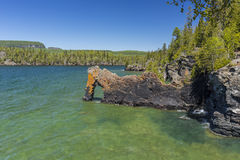 Lake Superior Rock Arch. A stone arch formation on Lake Superior Royalty Free Stock Photography