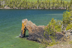 Lake Superior Rock Arch. A stone arch formation on Lake Superior Stock Photos