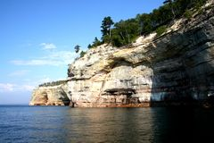 Lake Superior rock formation Royalty Free Stock Images