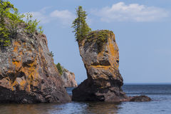 Lake Superior Rock Formation Stock Photos