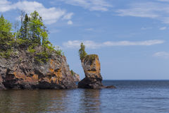 Lake Superior Rock Formation Royalty Free Stock Photos