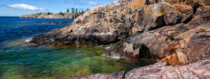 Lake Superior rugged coastline Stock Photography