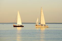 Lake Superior Sailboats Royalty Free Stock Photo
