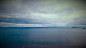 Lake Superior. Serene day on beach Royalty Free Stock Image