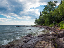 Lake Superior Shore in Lutsen 1. This is the shore of Lake Superior in Lutsen, Minnesota Royalty Free Stock Photo