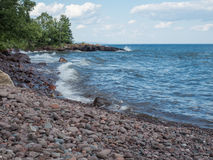 Lake Superior Shore in Lutsen, Minnesota Royalty Free Stock Image