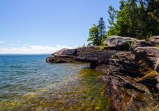 Lake Superior Shore Stock Photo