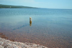 Lake superior shoreline great lakes grand marais Stock Image