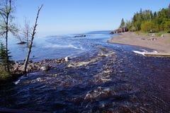 Lake Superior shoreline Royalty Free Stock Images