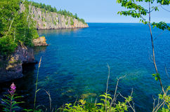 Lake superior, shovel point Royalty Free Stock Images