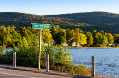 Lake Superior Sign Post Royalty Free Stock Photography