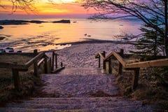 Lake Superior solnedgång royaltyfri foto