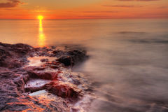 Lake Superior Sunrise, HDR Royalty Free Stock Photo