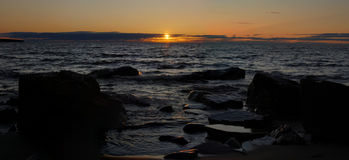 Lake superior sunset Stock Photography