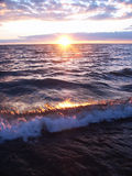 Lake Superior Sunset Stock Photo