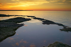 Lake Superior Sunset Royalty Free Stock Photos