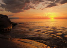 Lake Superior Sunset Stock Image
