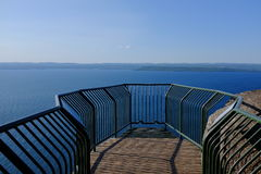 Lake Superior utkik Arkivfoto