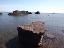 Lake Superior utsikt Arkivbilder