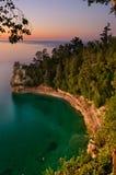 Lake- Superiorsonnenuntergang. Stockbilder