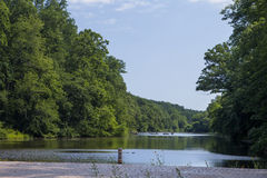 Lake Surprise. The view of Lake Surprise from the dam at the Watchung Reservation Stock Photography
