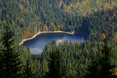 Lake surrounded with autumn trees Stock Photography