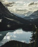 Lake Surrounded With Mountains Royalty Free Stock Images
