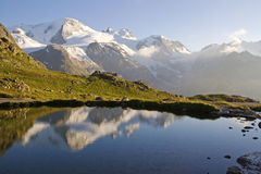 Lake Susten. Small lake on the summit of the pass Susten Stock Image