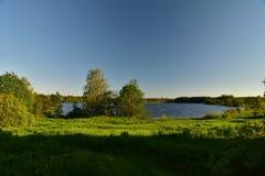 Lake Suvorov Novgorod озеро Боровичи stock photography