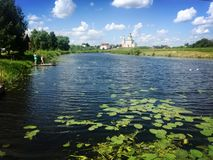 A lake of Suzida in Russia royalty free stock image