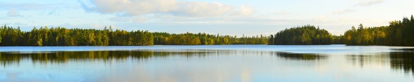 Lake in sweden. A pamorama lake in sweden Royalty Free Stock Images
